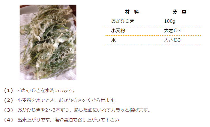 おかひじきの天ぷら