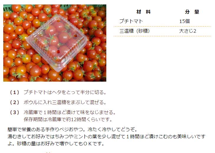 プチトマトの砂糖漬け